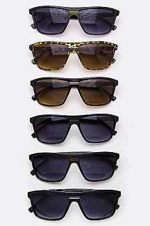 Striped Bridge Wayfarer Sunglasses