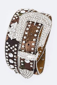 Cyrstal Concho Western Fashion Belt