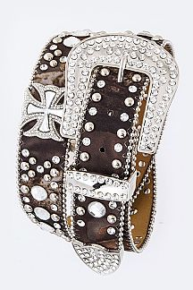 Crystal Cross Iconic Fashion Belt