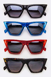 Pop Colored Square Frame Sunglasses