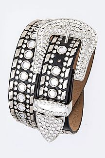 Mix Studs Iconic Fashion Crystal Belt