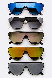 Color Mirror Shield Sunglasses