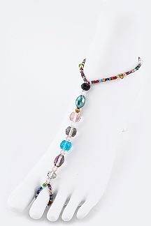 Mix Beads Stretch Barefoot Sandal