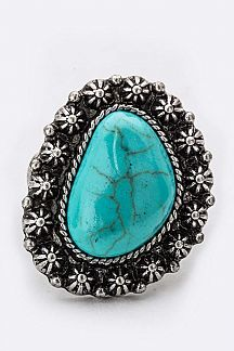 Turquoise Pebble Stretch Ring
