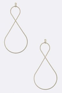 Wired Iconic Twist Drop Earrings