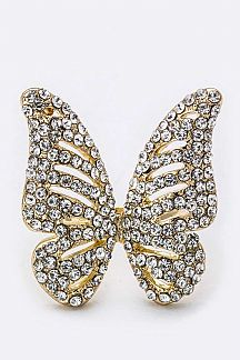 Crystal Butterfly Fashion Ring