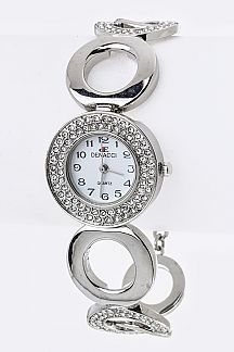 Crystal Hoops Bracelet Watch