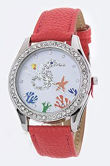 Sea Life Crystal Fashion Watch