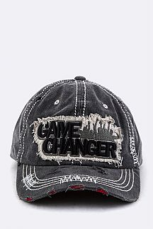 GAME CHANGER Embroidery Cotton Cap
