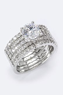 Hinged 5 Layers CZ Ring