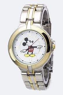 Mickey 2 Tone Bracelet Watch