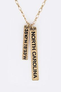 NORTH CAROLINA GIS Tags Necklace