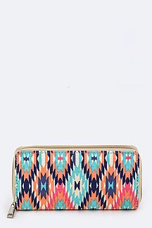 Tribal Pattern Canvas Wallet