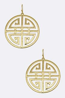 Laser Cut Symbol Earrings