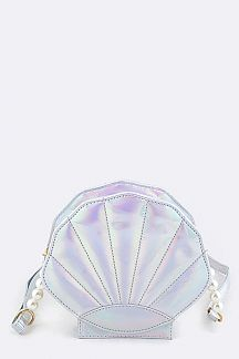 Holographic Shell Crossbody Bag