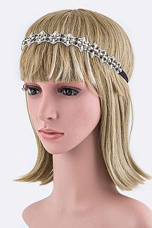 Crystal & Pearl Stretch Headband