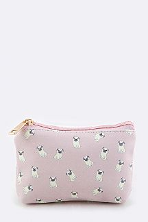 Puppy Print Mini Pouch