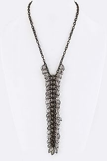 Fringe Beads Drop Necklace
