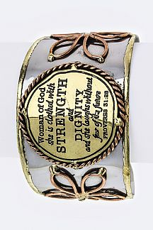 Proverbs 31:25 Metal Cuff