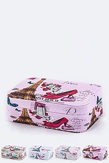 PARIS Theme Print Jewelry Cases Set