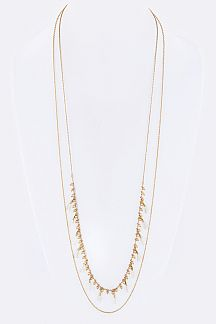Fringe Tassel Layered Long Necklace