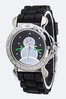Snowman Crystal Watch