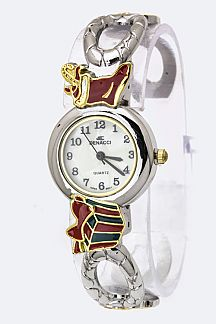 X'mas Design Bangle Watch