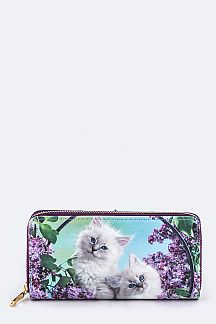 Kitties Print Wallet