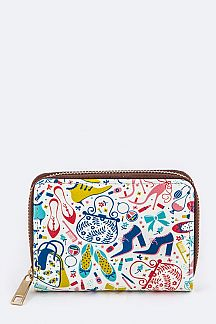 Women Goods Print Wallet