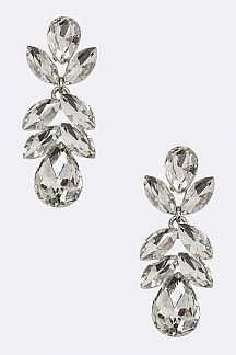 Mix Crystal Flower Earrings