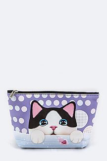 Comic Kitty Pouch