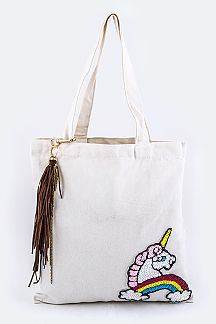 Sequins Unicorn Fashion Tote