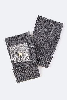 Small Pocket Fingerless Gloves