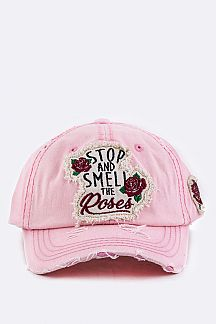 Stop & Smell The Roses Cotton Cap