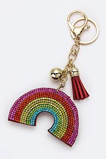 Crystal Rainbow Key Charm