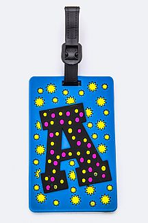 Initial A Jelly Bag & Luggage Tag