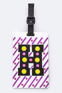 Initial H Jelly Bag & Luggage Tag