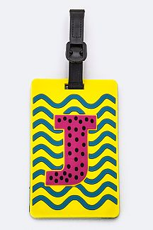 Initial J Jelly Bag & Luggage Tag