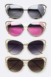 Double Rim Iconic Cat Eye Sunglasses
