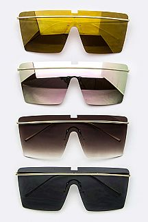 Iconic Rimless Shield Sunglasses