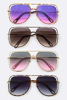 Iconic Rim Fashion Teardrop Sunglasses