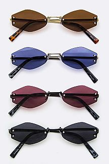 Iconic Narrow Rimless Sunglasses