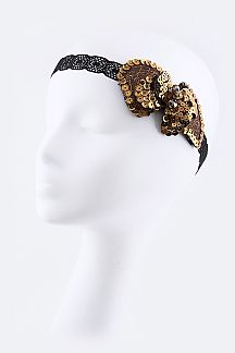 Sequins Bow Stretch Headband