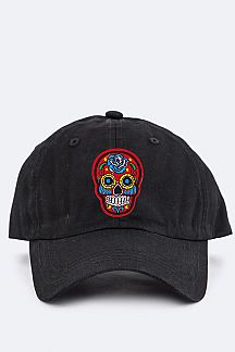 Kid Size Skull Embroidery Cap