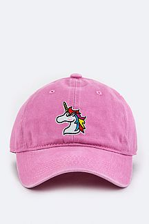 Todler Size Unicorn Embroidery Cap