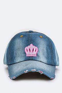 Pricess Crown Patch Cotton Cap