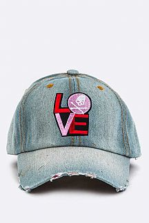 LOVE Skull Patch Cap
