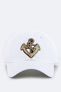 Sequins Anchor Fashion Cap