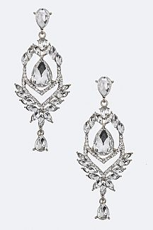 Mix Crystal Chandelier Earrings
