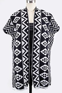 Tribal Pattern Knit Vest